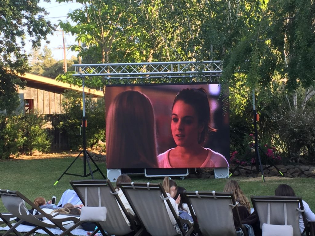 outdoor movie projector rental